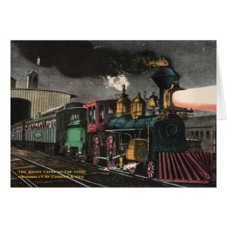 The Night Express Greeting Card