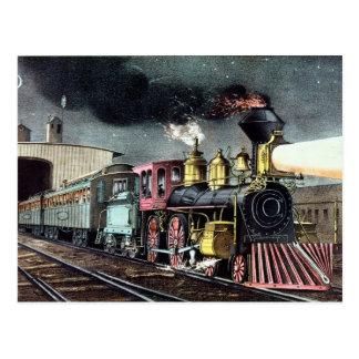 The Night Express: The Start Postcard
