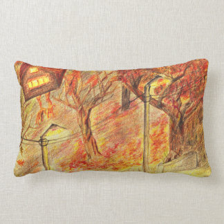 The night road adventures lumbar cushion