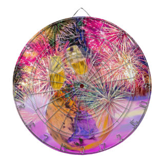 The night shines with fireworks dartboard