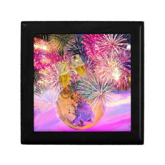The night shines with fireworks gift box