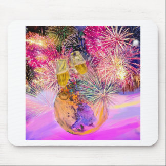 The night shines with fireworks mouse pad
