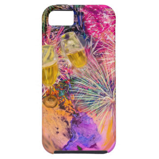 The night shines with fireworks tough iPhone 5 case