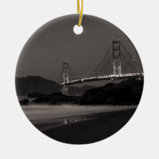 The Night Watch at Golden Gate Ceramic Ornament
