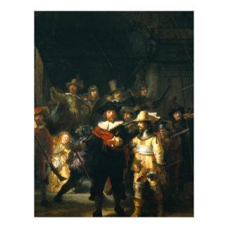 The Night Watch - Rembrandt 21.5 Cm X 28 Cm Flyer