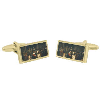 The Night Watch - Rembrandt Gold Finish Cufflinks