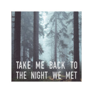 The Night We Met Canvas Print