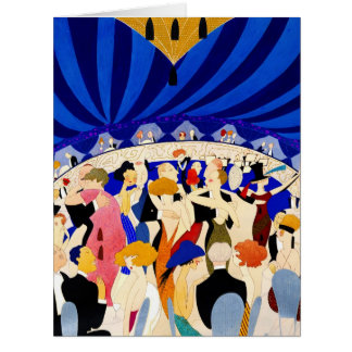 The Nightclub 1921 Big Greeting Card