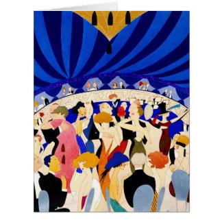 The Nightclub 1921 Big Greeting Card