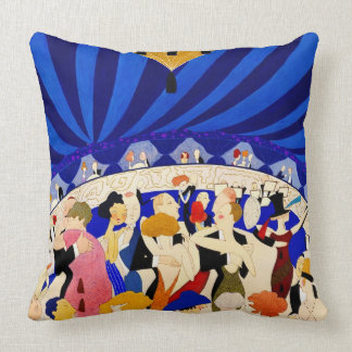 The Nightclub 1921 Throw Pillow