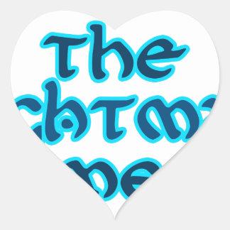 The Nightman Cometh Heart Sticker