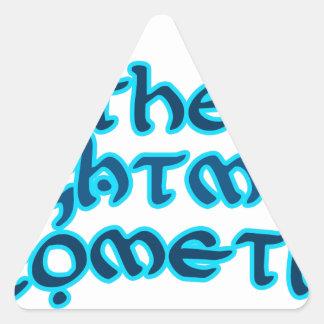 The Nightman Cometh Triangle Sticker