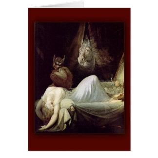 The Nightmare  by Henry Fuseli, 1781 Card