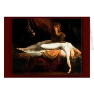 The Nightmare by John Henry Fuseli Card
