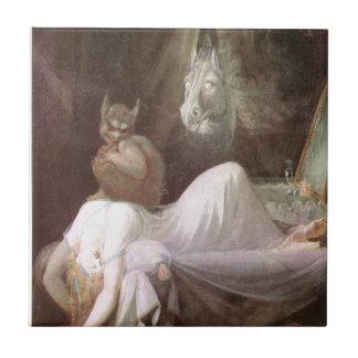 The Nightmare: Henry Fuseli; 18th c. Ceramic Tile