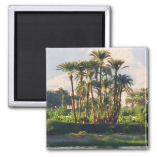 The Nile River in Egypt,  Luxor Square Magnet