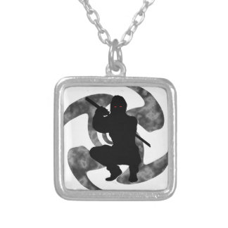 THE NINJA SHADOW SILVER PLATED NECKLACE
