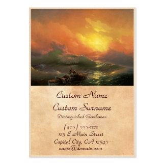 The ninth wave Ivan Aivasovsky seascape waterscape Pack Of Chubby Business Cards