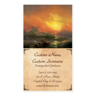 The ninth wave Ivan Aivasovsky seascape waterscape Pack Of Standard Business Cards