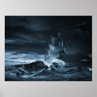 The ninth wave remake, digital artwork posters