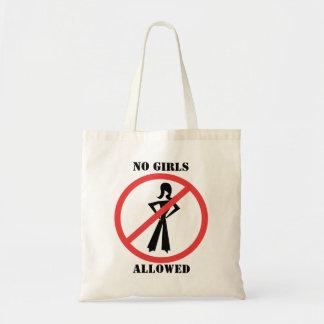 The no symbol pictogram No Girls Allowed Budget Tote Bag