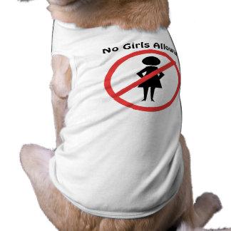The no symbol pictogram No Girls Allowed Sleeveless Dog Shirt
