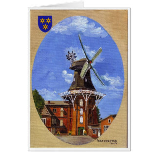 The Norden Mühle painted in acrylic Card