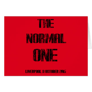 The Normal One Card