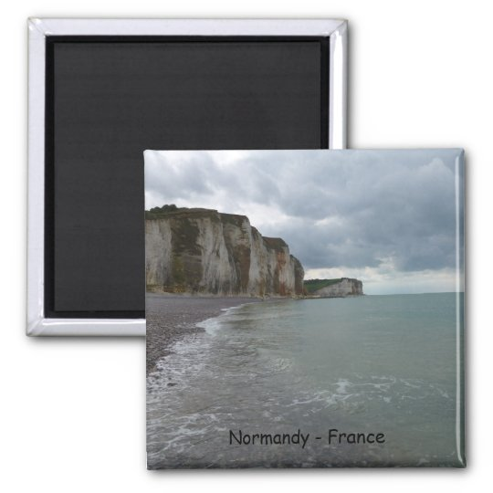 The Normandy coast in France - lesson Petites Dall Magnet