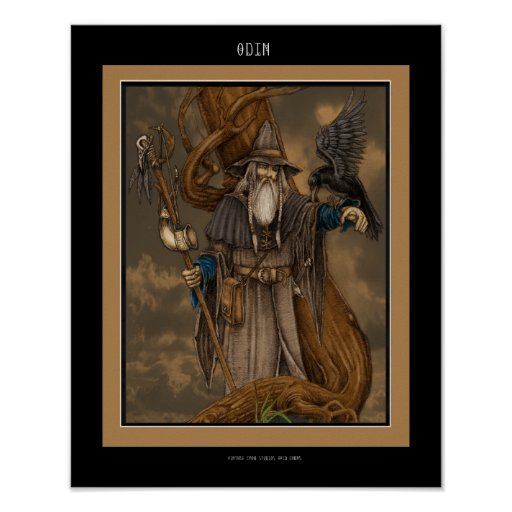 The Norse god Odin Poster