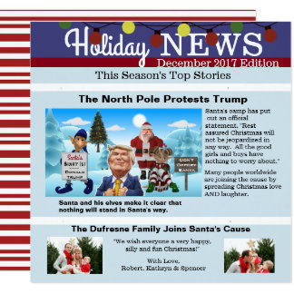 """""""The North Pole Protests"""" Christmas Photo Card"""