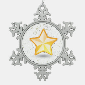 The North Star White Christmas Collection Pewter Snowflake Decoration