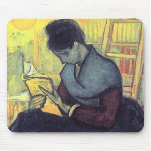 The novel reader by Vincent van Gogh Mouse Pad