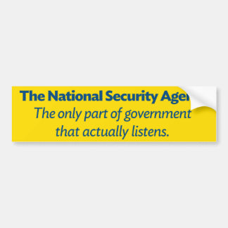The NSA Bumper Sticker