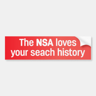 The NSA Loves Your Search History Bumper Sticker