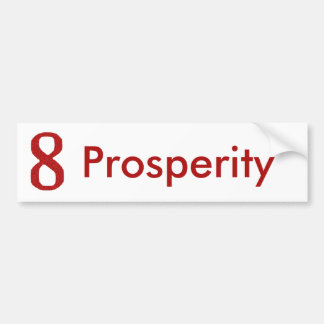 THE NUMBER 8 IN RED BUMPER STICKER