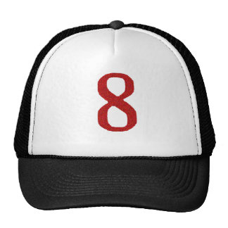 THE NUMBER 8 IN RED CAP