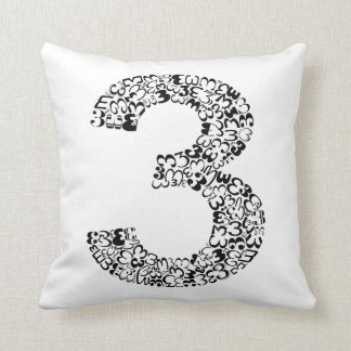 The Number Three Cushion