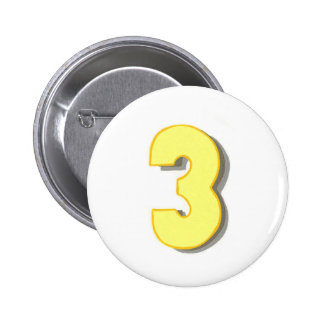The number three in yellow on pins
