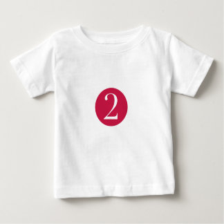 The number two baby T-Shirt