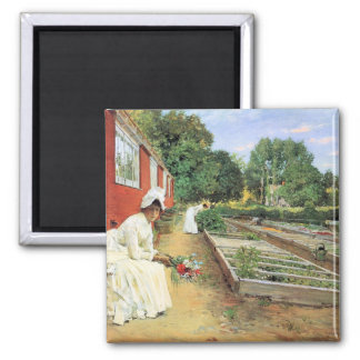 The nursery by William Chase Refrigerator Magnet