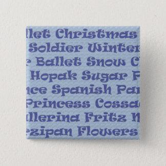 The Nutcracker 15 Cm Square Badge
