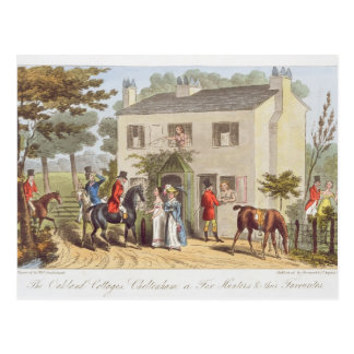 The Oakland Cottages, Cheltenham, or Fox Hunters a Postcard