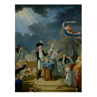 The Oath of Lafayette Postcard