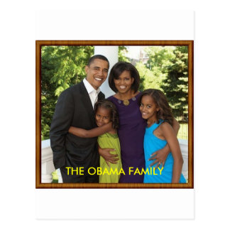 THE OBAMA FAMILY POSTCARD