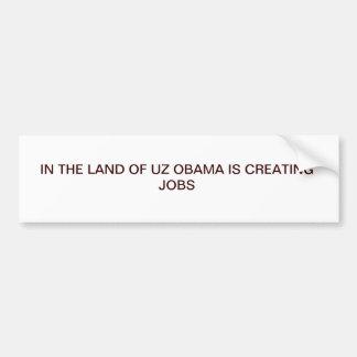 the obama job bumper sticker