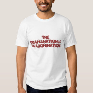 The ObamaNation is an Abomination! T Shirts