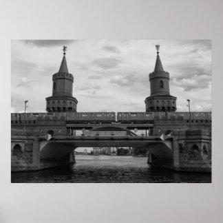 The Oberbaum Bridge 001.03.F, BERLIN Poster