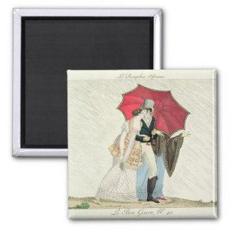 The Obliging Umbrella, plate 40 from 'Le Bon Genre Refrigerator Magnets