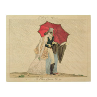 The Obliging Umbrella, plate 40 from 'Le Bon Genre Wood Canvases